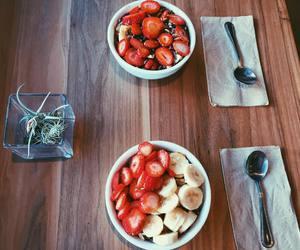 healthy, strawberrie, and banana image