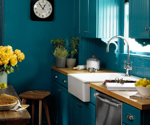 blue, deco, and kitchen image