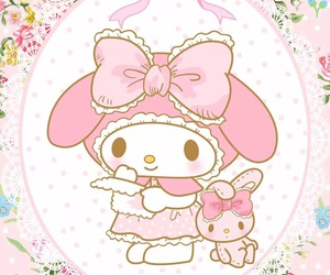 my melody, sanrio, and cute image