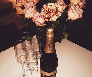 roses, champagne, and luxury image