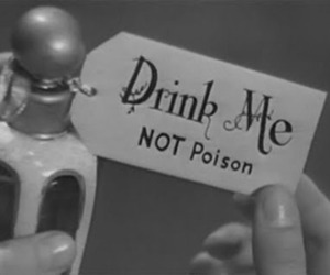 poison, drink, and drink me image