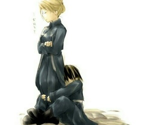 roy mustang, royai, and riza hawkeye image