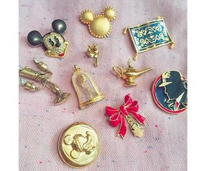 buttons, disney, and pins image