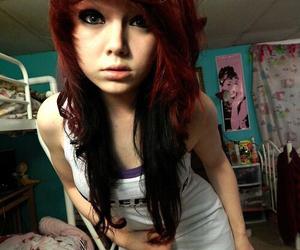 girl, scene, and emo image
