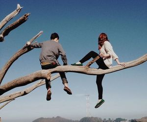 couple, aesthetic, and tree image