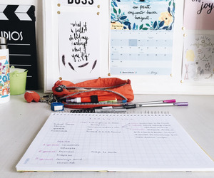 desk, school, and inspiration image