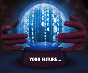 crystal, crystal ball, and fortune image