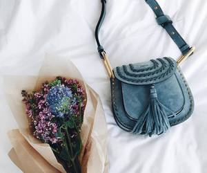 bag, flowers, and fashion image