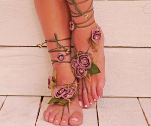barefoot, etsy, and sandals image