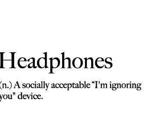 headphones, ignore, and music image