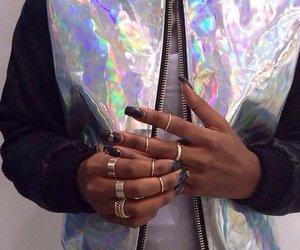 nails, black, and jacket image