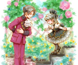 anime, anime girl, and bow image