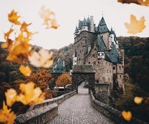 autumn, castle, and fall image