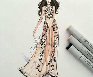 draw, dress, and illustration image