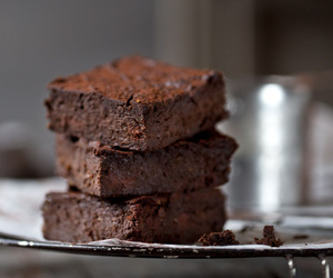 brownies, desserts, and chocolate image