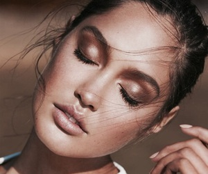 makeup, beauty, and model image