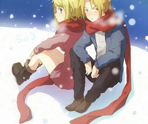 anime, couple, and fullmetal alchemist image