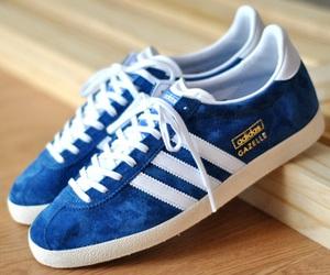 adidas, blue, and gazelle image