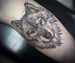 eyes, grey, and tattoo image