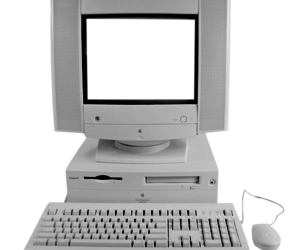 computer, vintage, and apple image