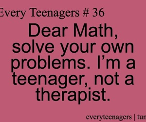 math, teenager, and problem image