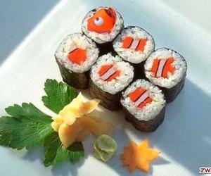 sushi, nemo, and food image