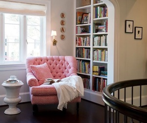 book, pink, and home image