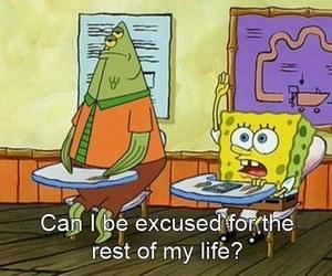 spongebob, school, and funny image