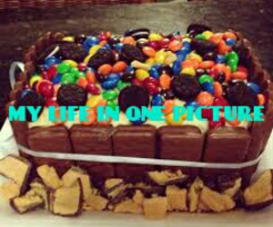 oreo and m&m and white choclet and cholet image