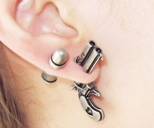gun, piercing, and accessories image