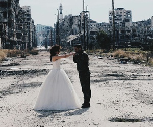 bride, couple, and damage image