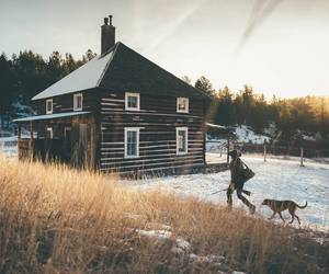 boho, dog, and escape image
