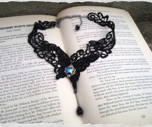 etsy, gothic jewelry, and butterfly necklace image
