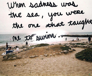 quote, sea, and sadness image