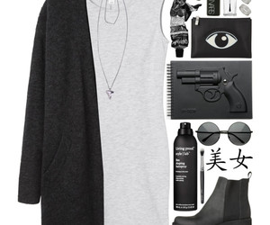 grunge, Polyvore, and black image