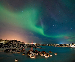 landscape, scenery, and starry image