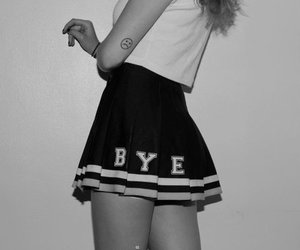 bye, skirt, and grunge image