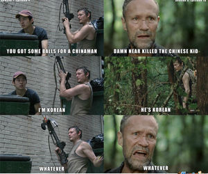 the walking dead, daryl, and glenn image