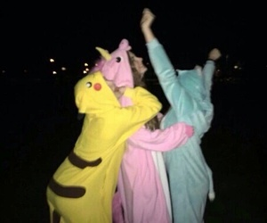 friends, unicorn, and grunge image