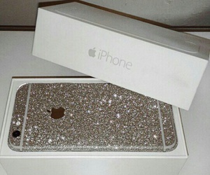 iphone, glitter, and apple image
