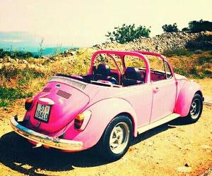 car, road, and pink image