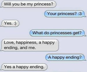 love, princess, and text image
