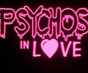pink, love, and phychos image