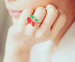 cherry, ring, and red image