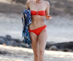 miley cyrus, beach, and bikini image