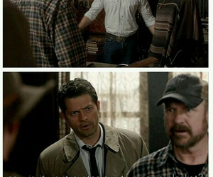 supernatural, castiel, and dean winchester image
