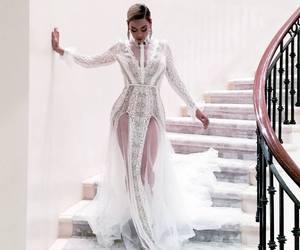 beyoncé, dress, and white image