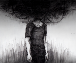 depression, black, and art image