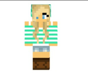 girl, skins, and minecraft image