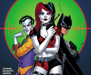 harley quinn, dc comics, and batman image